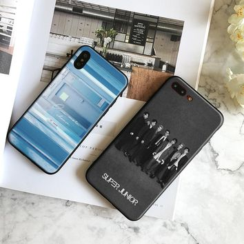 Super Junior kpop Boy band Soft Silicone Phone Case Cover Shell For Apple iPhone 5 5s Se 6 6s 7 8 Plus X XR XS MAX