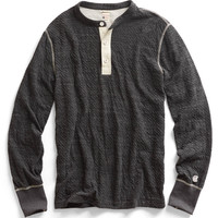 Long Sleeve Henley in Charcoal Heather