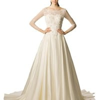 Vowstory Women's Aline Cathedral Train Wedding Dress