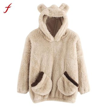2017 Autumn Winter Casual Long Sleeve Women hoody Animal Flannel Hoodie Sweatshirt Hooded Pullover Tops Blouse Hoodies Sudaderas