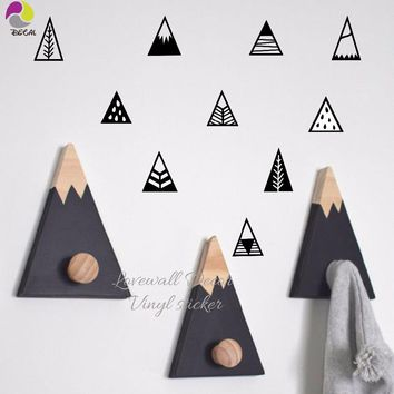 Nordic Style Mountain Wall Sticker Children Room Hill Pegantinas Wall Decal Kids Room DIY Easy Cut Vinyl Baby Nursery Decor