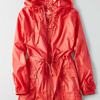 AEO Packable Rain Jacket , Coral