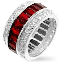 Triple Row Ruby Eternity Band