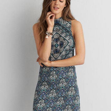 AEO MOCK NECK CUTOUT DRESS