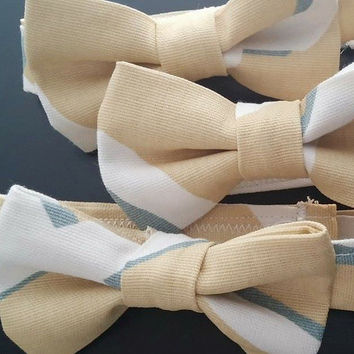 Yellow and white boys bow tie, bowtie, necktie, mens ties, spring summer wedding , baby boy photography prop, engagement, baby shower