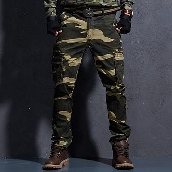 Tactical Camo Pants Men Mens Military Cargo Pants Men's Army Camouflage Trousers Militari Baggy Pants Winter Warm Trousers.FA05