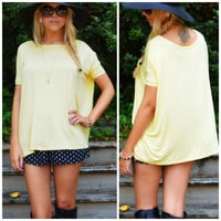 Boyfriend Piko Short Sleeve Yellow