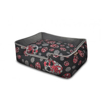 Skulls & Roses Lounge Bed for Dogs