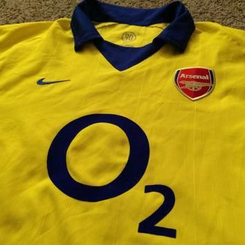 sale-vintage-nike-arsenal-fc-away-2003-2004-soccer-jersey-afc-football-shirt-gunners number 1