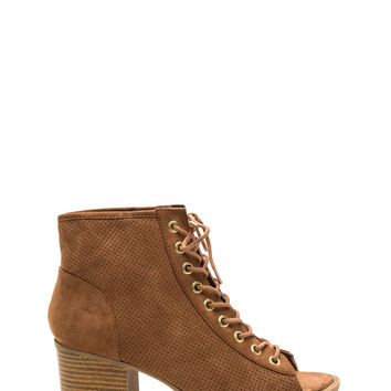 Punch Drunk Love Faux Suede Booties