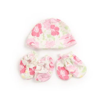 3 Piece Baby Glove Anti-grasping Gloves + Hat + Foot Cover Newborn Protection Face Cotton Anti Scratching Gloves Newborn Mittens