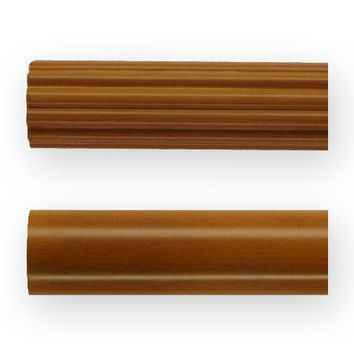 2 Inch Wood Poles Standard Colors (Fluted) (12 foot pole)
