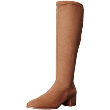 Chinese Laundry Womens Fixer  Faux Suede Block Heel Knee-High Boots