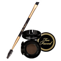 Too Faced Bulletproof Brows 24-hour Waterproof Cashmere Clay & Brush, Universal Brunette