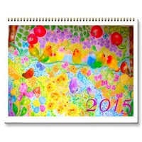 2015 Calendar, flowers and birds. | Zazzle