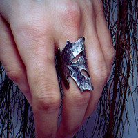 Silver Oak Leaf Ring, Oak Leaf Ring, Leaf Ring, Oak Leaf Jewelry, Unisex Ring, His and Hers Rings, Pagan Jewelry, Leaf Jewelry, Silver Ring