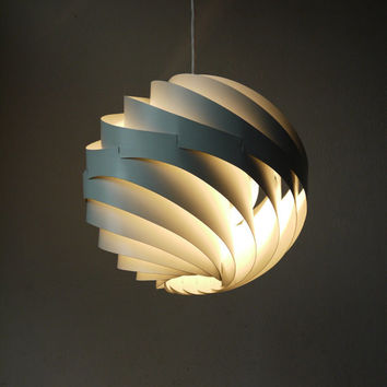LYFA Louis Weisdorf's Turbo White Pendant lamp, created in 1965, Copenhagen
