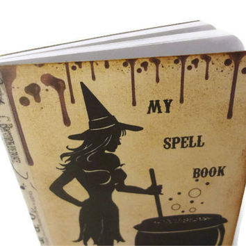 Witch Journal, Halloween Spell Book, Wiccan / Pagan Journal, The Book of Shadows, Witch Notebook, Goth, Halloween Guest Book