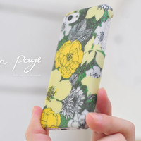 Apple iphone case for iphone iPhone 5 iphone 4 iphone 4s iphone 3Gs : Classic vintage yellow floral