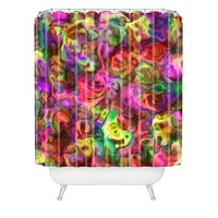 Lisa Argyropoulos Colour Aquatica Passion Pink Shower Curtain