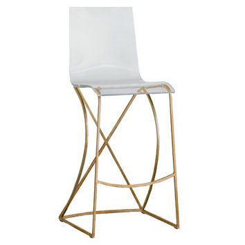 Gabby Johnson Bar & Counter Stool - Gold | Candelabra, Inc.