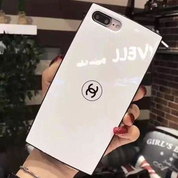 Chanel Trending Lovers Simple Cute iPhone Phone Cover Case For iphone 6 6s 6plus 6s-plus 7 7plus 8 8plus Black I