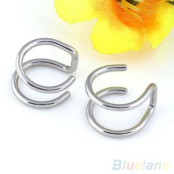 Men's Women's Clip-on Earrings Non-piercing Ear Cartilage Cuff Eardrop Ear Clip 4XJ4