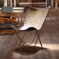 Raw Iron Butterfly Chair