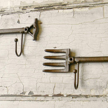 Wall Hook, Coat Hook, Garden Tool Wall Hooks, Garden Tool Hooks, Garden Wall Decor, Decorative Wall Hooks, Coat Rack, Wall Hook Rack