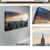 New York City as the Sun Comes Up Canvas