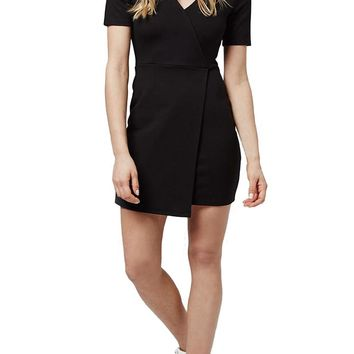Topshop Faux Wrap Body-Con Dress (Petite) | Nordstrom