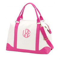 Personalized Pink Weekender Bag
