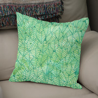 «Green foliage», Numbered Edition Coussin by Savousepate - From 25€ - Curioos