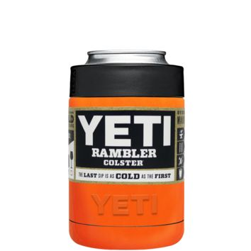 Custom Designed YETI Bright Orange Colster Can Cooler & Bottle Insulator