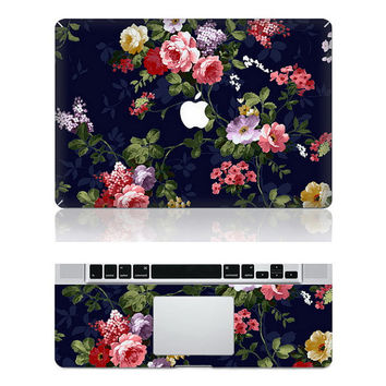 Hibiscus Flowers --Macbook Protective Decals Stickers Mac Cover Skins Vinyl Case for Apple Laptop Macbook Pro/Macbook Air