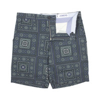 Juniper - Navy Square Print Shorts