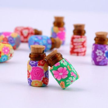 ac ICIKO2Q NEW 10 pcs Mini Glass Polymer Clay Bottles Containers Vials With Corks new arrival Can put in some powder or Beads & Jewellery
