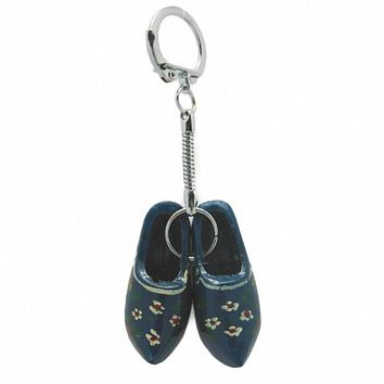 Holland Wooden Shoes Red Keychain