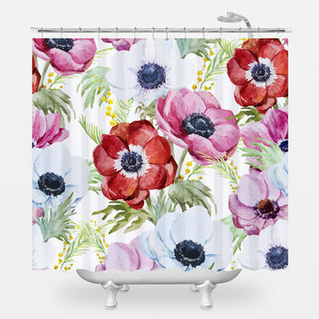 Plentiful Poppies Shower Curtain
