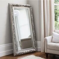 Antwerp Leaner Mirror Silver | French Style Mirrors | Silver Leaner Mirror