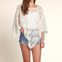 Sheer Lace Poncho