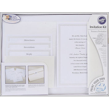 Wilton Print-Your-Own Invitations Kit String Of Pearls Pocket Style Invitations, 24 ct. 1008-177