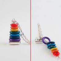 Rainbow Stacking Toy Necklace