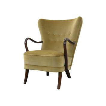 Pre-owned 1940s Danish Open Arm Lounge Chair