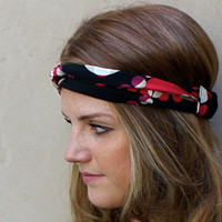 Cute Polka Dot Twisted Headband Turband Knotted Headband Head Scarf Hair Covering Black Red Tan White Purple