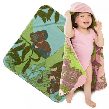 Baby & Toddler Organic Hooded Towel - Koalas