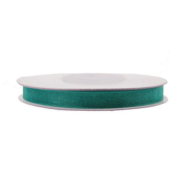 Sheer Organza Ribbon, 1/4-inch, 25-yard, Hunter Green