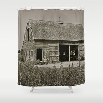 Farmhouse Shower Curtain - Country Home Decor - French Country Decor - Rustic Decor - Farmhouse Chic - Rustic Shower Curtain - Cottage Chic