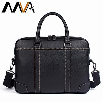 Men Briefcase Male Totes Men's Bag Man Genuine Leather Laptop Bag For Business Briefcases Men Leather Bags Briefcases
