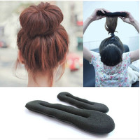 1 piece or 1 set Women Hair Accessories DIY Magic Sponge Hair Band Elastic Hair Styling Bun Maker Twist Curler Tool Hair Styling